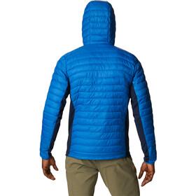Columbia Powder Pass Hooded Jacket Men bright indigo/collegiate navy